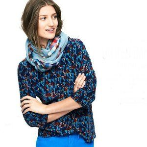 UNITED BAMBOO FOR MADEWELL Blue Silk Shirt top S